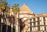 Exterior of baroque church, Iglesia Santo Cristo de la Salud, Malaga, Spain