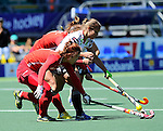 The Hague, Netherlands, June 13: Lisa Altenburg #18 of Germany in action during the field hockey placement match (Women - Place 7th/8th) between Korea and Germany on June 13, 2014 during the World Cup 2014 at Kyocera Stadium in The Hague, Netherlands. Final score 4-2 (2-0)  (Photo by Dirk Markgraf / www.265-images.com) *** Local caption ***