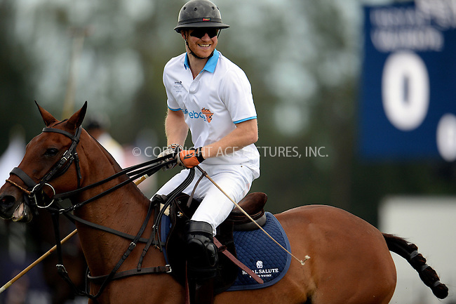 WWW.ACEPIXS.COM<br /> <br /> May 4 2016, Wellington, FL<br /> <br /> Prince Harry plays in the Sentebale Royal Salute Polo Cup on May 4, 2016 in Wellington, Florida. <br /> <br /> By Line: Solar/ACE Pictures<br /> <br /> <br /> ACE Pictures, Inc.<br /> tel: 646 769 0430<br /> Email: info@acepixs.com<br /> www.acepixs.com