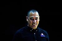 Saints head coach Paul Henare during the national basketball league match between Cigna Wellington Saints and Hawkes Bay Hawks at TSB Bank Arena in Wellington, New Zealand on Friday, 12 April 2019. Photo: Dave Lintott / lintottphoto.co.nz