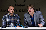 """American director Jason Sheedy (L) and american producer Kyle Steinike during the press conference of the film """"Patient"""" during the Madrid International Fantastic Film Festival Nocturna in Madrid. May 25 2016. (ALTERPHOTOS/Borja B.Hojas)"""