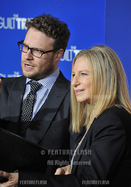 "Barbra Streisand & Seth Rogen at the Los Angeles premiere of their movie ""Guilt Trip"" at the Regency Village Theatre, Westwood..December 11, 2012  Los Angeles, CA.Picture: Paul Smith / Featureflash"