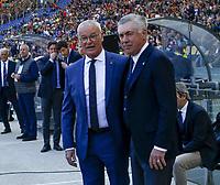 Carlo Ancelotti coach of Napoli   Claudio Ranieri off Roma before the  italian serie a soccer match, AS Roma -  SSC Napoli       at  the Stadio Olimpico in Rome  Italy , March 31, 2019
