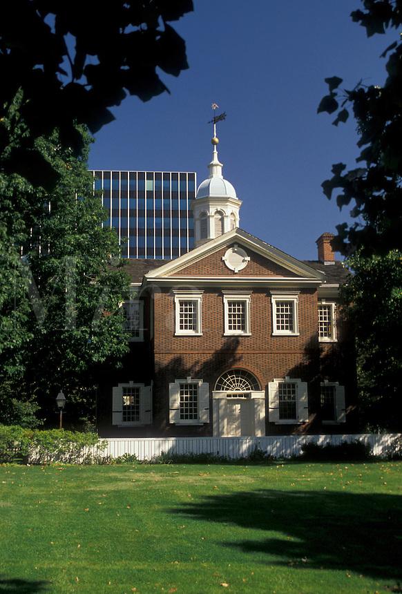 AJ3055, Philadelphia, Pennsylvania, Carpenter's Hall at Independence National Historical Park in Philadelphia in the state of Pennsylvania.