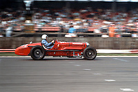 Vintage racing car heading down the home straight to win at a race meeting..©shoutpictures.com..john@shoutpictures.com