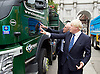 Boris Johnson MP <br /> Mayor of London launches Britain&rsquo;s first Safer Lorry Scheme at Marble Arch, London, Great Britain <br /> 1st September 2015 <br /> <br /> Boris Johnson with Leon Daniels - managing director surface transport TFL <br /> <br /> Safer lorries displayed at Marble Arch &amp; Boris Johnson outlines ways in which the scheme will be developed in the future. <br />  <br /> Under the new scheme, most vehicles which are currently exempt from national legislation for basic safety equipment will have to be retrofitted to drive on London&rsquo;s roads. This includes construction vehicles, which are involved in a disproportionate number of fatal collisions involving cyclists and pedestrians.<br /> <br /> Photograph by Elliott Franks <br /> Image licensed to Elliott Franks Photography Services