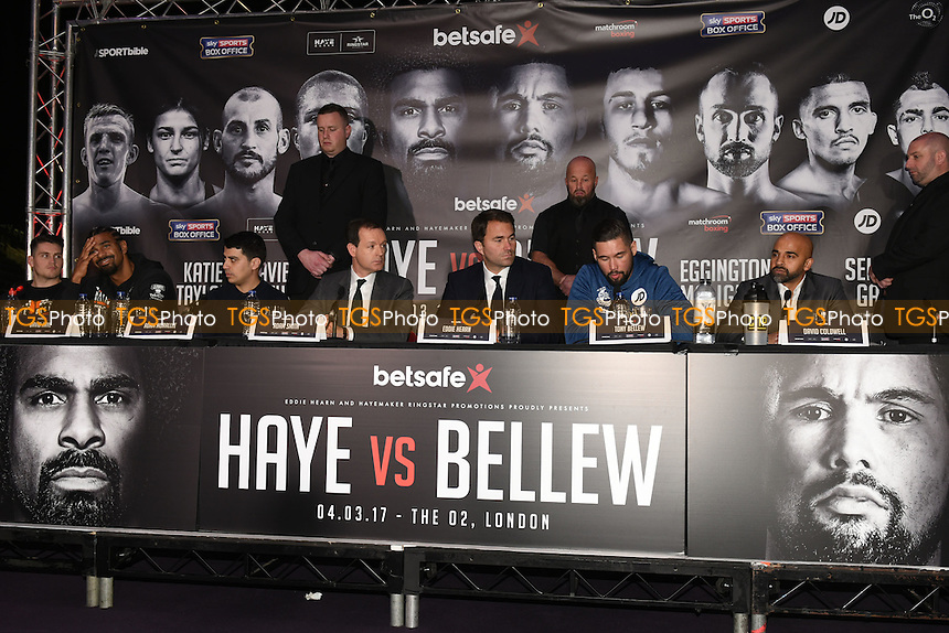 General view during a Matchroom Boxing Press Conference at The O2 on 2nd March 2017