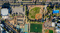 Aerial view of the fields and sports fields and gimmacio of the University of Sonora. The Unison mile. Hermosillo, Sonora. Baseball fields, synthetic grass, soccer fields.<br /> (Photo: Luis Gutierrez / NortePhoto.com)<br /> <br /> Vista aerea las canchas y campos deportivos y gimmacio de la Universidad de Sonora. La milla de la Unison. Hermosillo, Sonora. Campos de beisbol, pasto sintetico, canchas de futbol. Alberca de la unison<br /> (Photo: Luis Gutierrez/NortePhoto.com)