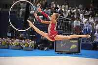 September 12, 2009; Mie, Japan;  (Center) Anzhelika Savrayuk and Italian rhythmic group performs during hoop on way to winning gold in group All Around the day before at the 2009 World Championships Mie, Japan. Photo by Tom Theobald.