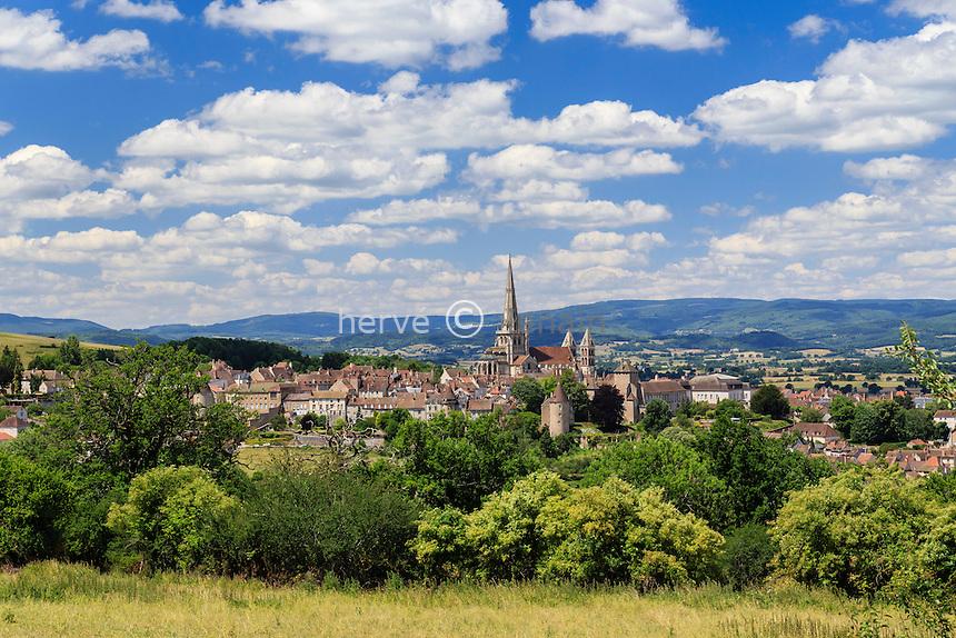 France, Saône-et-Loire (71), Autun et la cathédrale Saint-Lazare // France, Saone et Loire, Autun and Saint Lazare Cathedral