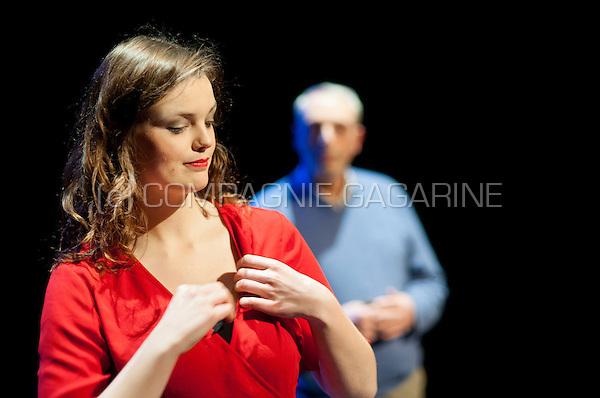 "Theatre company De Dijlezonen playing Verkocht (""Sold"") from John Godber, directed by Gie Beulens (Leuven, 19/01/2017)"