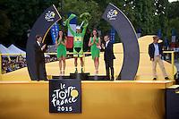 Peter Sagan (SVK/Cannondale) wins the green jersey for the 4th consecutive time<br /> <br /> stage 21: Sèvres - Champs Elysées (109km)<br /> 2015 Tour de France