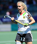 The Hague, Netherlands, June 13: Lydia Haase #12 of Germany gestures during the field hockey placement match (Women - Place 7th/8th) between Korea and Germany on June 13, 2014 during the World Cup 2014 at Kyocera Stadium in The Hague, Netherlands. Final score 4-2 (2-0)  (Photo by Dirk Markgraf / www.265-images.com) *** Local caption ***