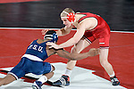 MADISON, WI - JANUARY 19: Craig Henning of the Wisconsin Badgers wrestling team against the Penn State Nittany Lions at the Field House on January 19, 2007 in Madison, Wisconsin. The Badgers beat the Nittany Lions 17-16. (Photo by David Stluka)