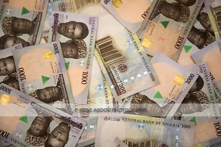1000 naira bills (Nigerian currency)