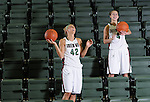 University of Wisconsin-Green Bay basketball stars Kayla Tetschlag, left, and Celeste Hoewisch at the Kress Events Center on March 2, 2011.