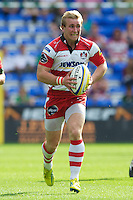 Dan Robson of Gloucester Rugby in action during the Aviva Premiership match between London Irish and Gloucester Rugby at the Madejski Stadium on Saturday 8th September 2012 (Photo by Rob Munro)