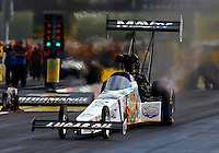 Aug. 31, 2013; Clermont, IN, USA: NHRA top fuel dragster driver Brandon Bernstein during qualifying for the US Nationals at Lucas Oil Raceway. Mandatory Credit: Mark J. Rebilas-