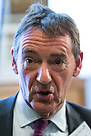 © Joel Goodman - 07973 332324 . NO SYNDICATION PERMITTED . 06/11/2014 . Leeds , UK . Economist JIM O'NEILL of the City Growth Commission , at the Northern Futures Summit in Leeds this morning (Thursday 6th November 2014) .  . Photo credit : Joel Goodman