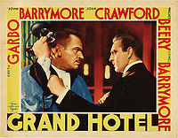 Grand Hotel (1932)<br /> Lobby card with Wallace Beery &amp; John Barrymore<br /> *Filmstill - Editorial Use Only*<br /> CAP/MFS<br /> Image supplied by Capital Pictures