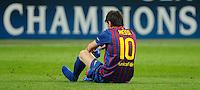 MILAO, ITALIA, 28 DE MARCO 2012 - CHAMPIONS LEAGUE - Lionel Messi jogador do Barcelona durante partida contra o Milan na partida de ida das quartas de finais da Champion League no Estadio San Siro em Milao na Italia. A partida terminou em 0 a 0.  (FOTO: GIUSEPPE CELESTE / PIXATHLON / BRAZIL PHOTO PRESS