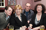 Tommy Crilly, Louise Gorman, James Andrews and Mairead Duffy at the Table Quiz in Foleys...Photo NEWSFILE/Jenny Matthews.(Photo credit should read Jenny Matthews/NEWSFILE)....This Picture has been sent you under the condtions enclosed by:.Newsfile Ltd..The Studio,.Millmount Abbey,.Drogheda,.Co Meath..Ireland..Tel: +353(0)41-9871240.Fax: +353(0)41-9871260.GSM: +353(0)86-2500958.email: pictures@newsfile.ie.www.newsfile.ie.FTP: 193.120.102.198.