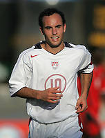 09 February, 2005.USMNT captain Landon Donovan (10) runs to the corner during the World Cup qualifier at Queen's Park Oval in Port of Spain, Trinidad and Tobago.  The USMNT defended Trinidad and Tobago 2-1.