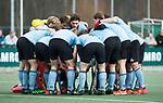 WASSENAAR - Hoofdklasse hockey heren, HGC-Bloemendaal (0-5)  teamhuddle (HGC)   COPYRIGHT   KOEN SUYK