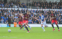 GOAL - Blackburn Rovers' Charlie Mulgrew scores the opening goal <br /> <br /> Photographer Ashley Crowden/CameraSport<br /> <br /> The EFL Sky Bet League One - Bristol Rovers v Blackburn Rovers - Saturday 14th April 2018 - Memorial Stadium - Bristol<br /> <br /> World Copyright &copy; 2018 CameraSport. All rights reserved. 43 Linden Ave. Countesthorpe. Leicester. England. LE8 5PG - Tel: +44 (0) 116 277 4147 - admin@camerasport.com - www.camerasport.com