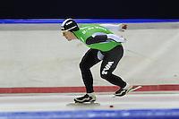 SCHAATSEN: HEERENVEEN: 05-10-2013, IJsstadion Thialf, Trainingwedstrijd, 3000m, Douwe de Vries (3.48,92), ©foto Martin de Jong