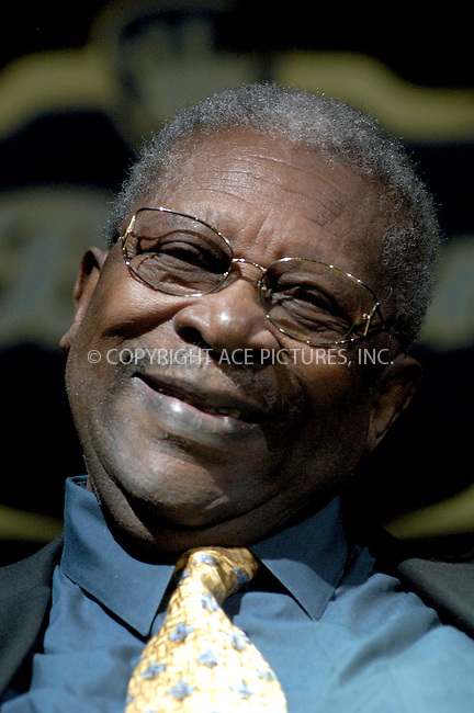 WWW.ACEPIXS.COM . . . . . ....NEW YORK, NEW YORK, JUNE 2ND 2005....B.B. King at a pss conference on his 80th birthday where he discussed details for his museum, new tour and recording at B.B. King Blues Club.....Please byline: KRISTIN CALLAHAN - ACE PICTURES.. . . . . . ..Ace Pictures, Inc:  ..Craig Ashby (212) 243-8787..e-mail: picturedesk@acepixs.com..web: http://www.acepixs.com