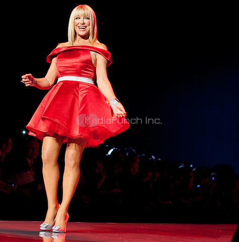 Suzanne Somers on the runway at the Heart Truth Fall 2011 fashion show during Mercedes-Benz Fashion Week at The Theatre at Lincoln Center in New York City. February 9, 2011. © Michelle Gray / MediaPunch Inc.