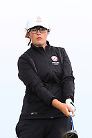 Emily Toy (ENG) on the 9th tee during the Matchplay Final of the Women's Amateur Championship at Royal County Down Golf Club in Newcastle Co. Down on Saturday 15th June 2019.<br /> Picture:  Thos Caffrey / www.golffile.ie