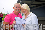Mother and daughter, June McCauley and Cliodna O'Brien celebrate the Leaving Certificate results on Wednesday