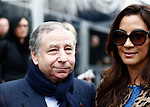 Jean Todt, Michelle Yeoh at the Roberto Cavalli fashion show as part of the Milan Fashion Week Women's wear Fall/Winter 2015/2016, in Milan on February 28, 2015.