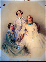 BNPS.co.uk (01202 558833)<br /> Pic: JPHumbert/BNPS.<br /> <br /> L-r Emily, Charlotte and Anne Bronte.<br /> <br /> Out of the shadows - could this be a previously unknown portrait of Britain's most famous literary sisters...<br /> <br /> A &quot;nationally important&quot; unseen portrait of the Bronte sisters has sold for &pound;50,000 more than 180 years later.<br /> <br /> The watercolour painting is believed to be of Emily, Charlotte and Anne Bronte, painted in 1834 by a young Edwin Landseer, who struck up a friendship with the family, before he became Queen Victoria's favourite painter.<br /> <br /> Only one other picture exists of the three sisters, who produced such classic' novels as Wuthering Heights, Jane Eyre and Agnes Grey before two of them died tragically young.<br /> <br /> The owner together with auctioneers J P Humbert have spent nine years extensively researching the artwork to find evidence that backs up their theory and convince academics.<br /> <br /> The painting sold for &pound;40,550 hammer price, &pound;50,038 including buyers premium to a private art investor believed to be UK based who apparently plans to complete research on the portrait and re-sell it at a later date.