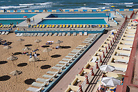 Afrique/Afrique du Nord/Maroc /Casablanca: la Corniche - plage privée aménagée avec piscine