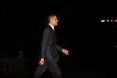 United States President Barack Obama departs the White House with Marine One en route to a private residence in Rockville, Maryland to attend a dinner for the DSCC , October 18, 2010  in Washington DC..Credit: Olivier Douliery / Pool via CNP