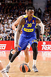 Maccabi Fox's Quincy Miller during Turkish Airlines Euroleague match between Real Madrid and Maccabi at Wizink Center in Madrid, Spain. January 13, 2017. (ALTERPHOTOS/BorjaB.Hojas)