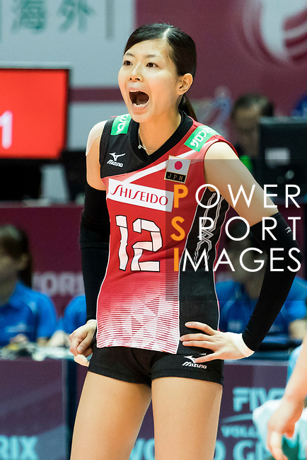 Setter Miya Sato of Japan reacts during the FIVB Volleyball World Grand Prix - Hong Kong 2017 match between Japan and Serbia on 22 July 2017, in Hong Kong, China. Photo by Yu Chun Christopher Wong / Power Sport Images