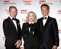 LOS ANGELES - FEB 4:  Bo Welch, Catherine O'Hara, Richard E Grant at the Movies for Growups Awards at the Beverly Wilshire Hotel on February 4, 2019 in Beverly Hills, CA