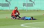 Hoffenheim 26.08.2008, Fu&szlig;ball Bundesliga Training TSG 1899 Hoffenheim, Dehn&uuml;bungen bei Hoffenheims Demba Ba<br /> <br /> Foto &copy; Rhein-Neckar-Picture *** Foto ist honorarpflichtig! *** Auf Anfrage in h&ouml;herer Qualit&auml;t/Aufl&ouml;sung. Belegexemplar erbeten.
