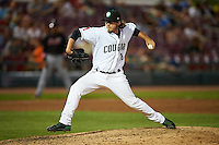 Kane County Cougars pitcher Zac Curtis (16) delivers a pitch during a game against the Great Lakes Loons on August 13, 2015 at Fifth Third Bank Ballpark in Geneva, Illinois.  Great Lakes defeated Kane County 7-3.  (Mike Janes/Four Seam Images)