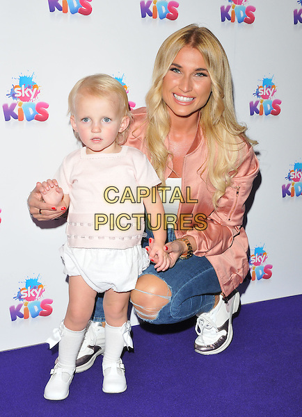 Billie Faiers &amp; daughter Nelly Samantha Shepherd at the Sky Kids Cafe VIP launch party, The Vinyl Factory, Marshall Street, London, England, UK, on Sunday 29 May 2016.<br /> CAP/CAN<br /> &copy;CAN/Capital Pictures