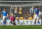 Motherwell v St Johnstone....28.04.12   SPL.Alan Mannus on his knees as the fourth goal goes in.Picture by Graeme Hart..Copyright Perthshire Picture Agency.Tel: 01738 623350  Mobile: 07990 594431