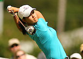 January 13, 2005; Honolulu, HI, USA;  15 year old amateur Michelle Wie tees off during the 1st round of the PGA Sony Open golf tournament held at Waialae Country Club.  Wie shot a 5 over par 75 for the day.<br />