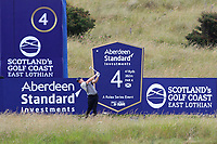 Rory McIlroy (NIR) on the 4th tee during Round 1 of the Aberdeen Standard Investments Scottish Open 2019 at The Renaissance Club, North Berwick, Scotland on Thursday 11th July 2019.<br /> Picture:  Thos Caffrey / Golffile<br /> <br /> All photos usage must carry mandatory copyright credit (© Golffile | Thos Caffrey)