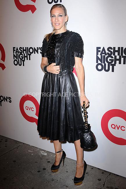 WWW.ACEPIXS.COM . . . . . .September 8, 2011...New York City...Sarah Jessica Parker and QVC celebrate Fashion's Night Out on September 8, 2011 in New York City.....Please byline: KRISTIN CALLAHAN - ACEPIXS.COM.. . . . . . ..Ace Pictures, Inc: ..tel: (212) 243 8787 or (646) 769 0430..e-mail: info@acepixs.com..web: http://www.acepixs.com .