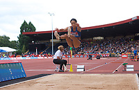 Katarina Johnson-Thompson (Great Britain) competing in the Women's long jump during the IAAF Diamond League Athletics Müller Grand Prix Birmingham at Alexander Stadium, Walsall Road, Birmingham on 18 August 2019. Photo by Alan  Stanford.