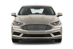 Car photography straight front view of a 2018 Ford Fusion SE 4 Door Sedan